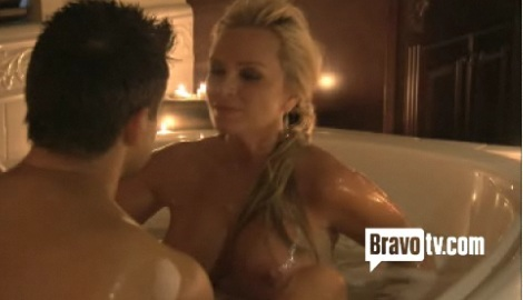 Tamara and Eddie in bathtub - pre fuzzinator