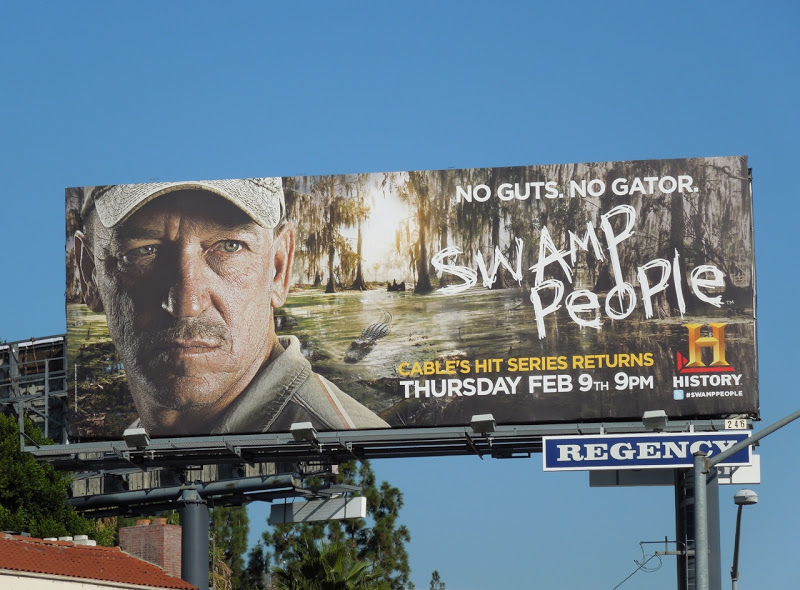swamp people3 TV billboard